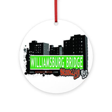 Williamsburg Bridge, BROOKLYN, NYC Ornament (Round