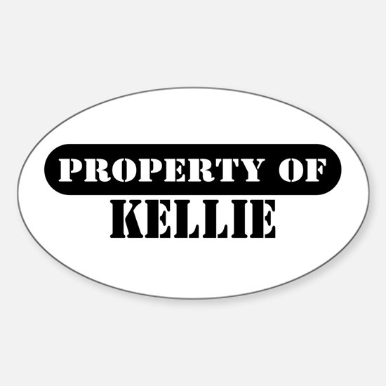 Property of Kellie Oval Decal