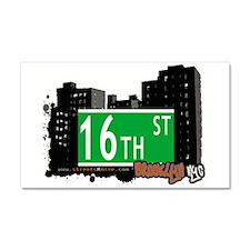 16th street, BROOKLYN, NYC Car Magnet 20 x 12