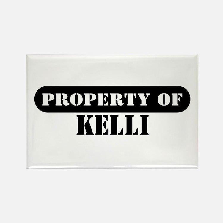 Property of Kelli Rectangle Magnet