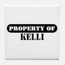 Property of Kelli Tile Coaster