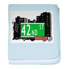 42nd street, BROOKLYN, NYC baby blanket