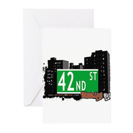 42nd street, BROOKLYN, NYC Greeting Cards (Pk of 1
