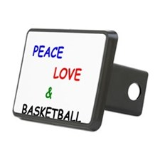 Peace Love and Basketball Hitch Cover