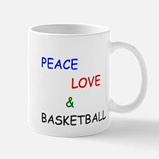 Peace Love and Basketball Mug