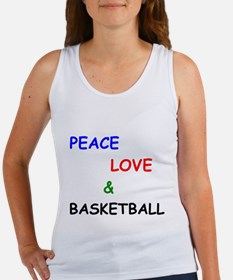 Peace Love and Basketball Tank Top