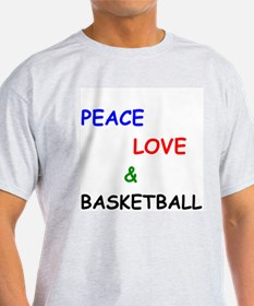 Peace Love and Basketball T-Shirt