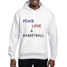 Peace Love and Basketball Hoodie