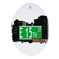 E 15th street, BROOKLYN, NYC Ornament (Oval)
