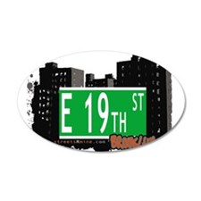 E 19th street, BROOKLYN, NYC Wall Decal