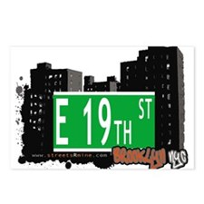 E 19th street, BROOKLYN, NYC Postcards (Package of