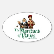 The Merchant of Venice Oval Decal