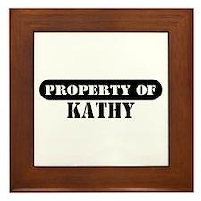 Property of Kathy Framed Tile