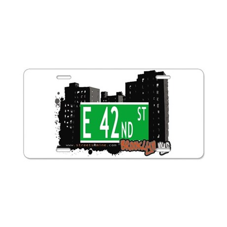 E 42nd street, BROOKLYN, NYC Aluminum License Plat