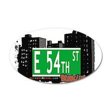 E 54th street, BROOKLYN, NYC Wall Decal