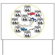 U.S. ROUTE 66 - All Routes Yard Sign
