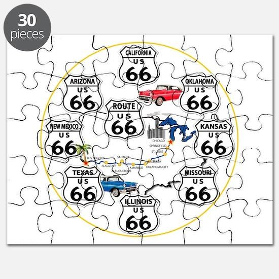 U.S. ROUTE 66 - All Routes Puzzle