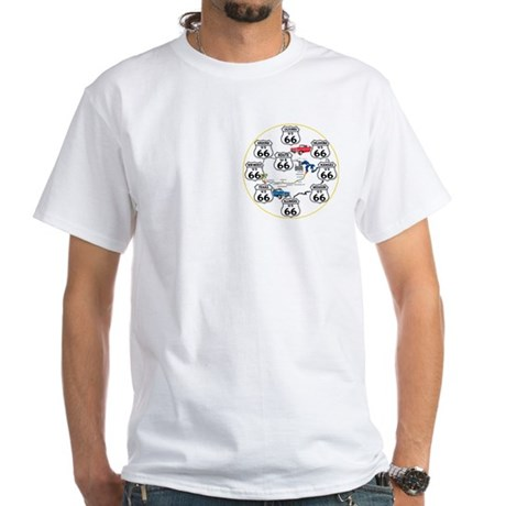 U.S. ROUTE 66 - All Routes White T-Shirt