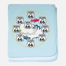 U.S. ROUTE 66 - All Routes baby blanket