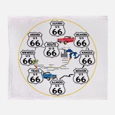 U.S. ROUTE 66 - All Routes Throw Blanket