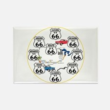 U.S. ROUTE 66 - All Routes Rectangle Magnet