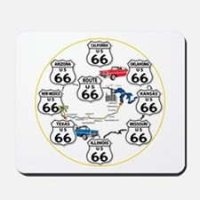 U.S. ROUTE 66 - All Routes Mousepad