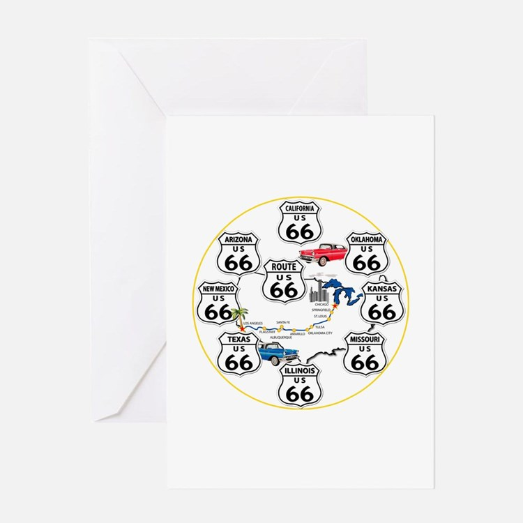 U.S. ROUTE 66 - All Routes Greeting Card