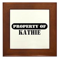 Property of Kathie Framed Tile