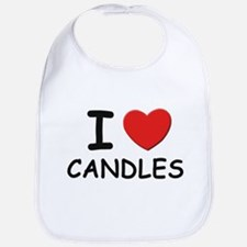 I love candles Bib