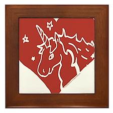 Love - Unicorns Framed Tile