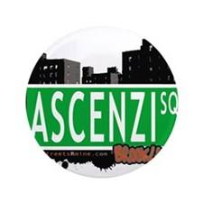 "Ascenzi Square, BROOKLYN, NYC 3.5"" Button"
