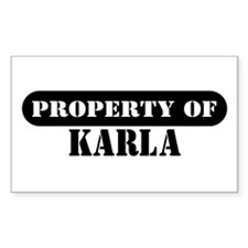 Property of Karla Rectangle Decal