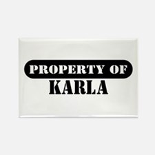 Property of Karla Rectangle Magnet