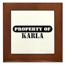 Property of Karla Framed Tile