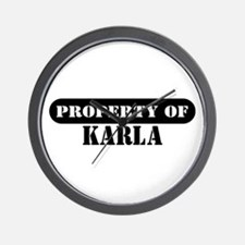 Property of Karla Wall Clock