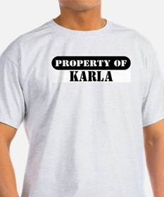 Property of Karla Ash Grey T-Shirt