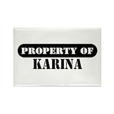 Property of Karina Rectangle Magnet (100 pack)