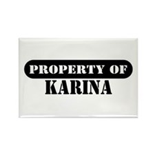 Property of Karina Rectangle Magnet