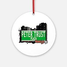 Peter Trust Plaza, BROOKLYN, NYC Ornament (Round)