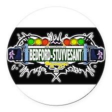 Bedford-Stuyvesant Brooklyn NYC (Black) Round Car