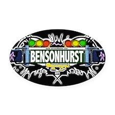 Bensonhurst Brooklyn NYC (Black) Oval Car Magnet