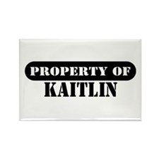 Property of Kaitlin Rectangle Magnet