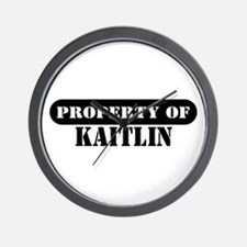 Property of Kaitlin Wall Clock