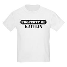 Property of Kaitlin Kids T-Shirt