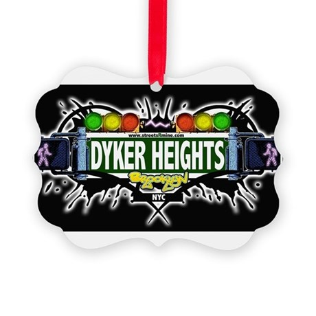 Dyker Heights (Black) Picture Ornament
