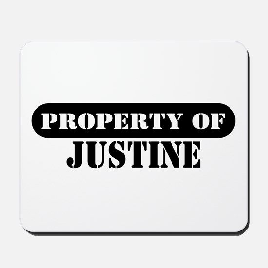 Property of Justine Mousepad
