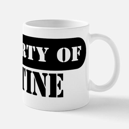 Property of Justine Mug