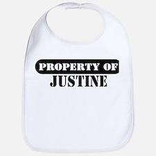 Property of Justine Bib