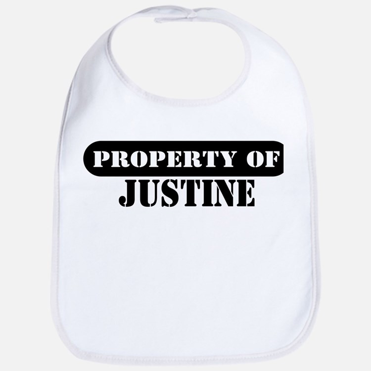 Property of Justine Bib