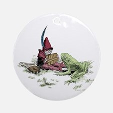 Gnome and Frog Ornament (Round)